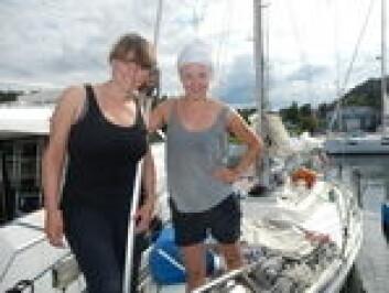 REIST: Emilie Ørn Kreyberg og Elise Pernille Gryt har lagt i vei mot fjerne farvann i en Hallberg-Rassy 312.