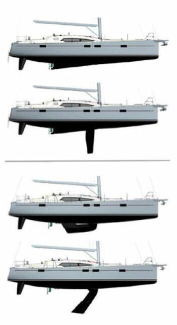 BALLAST: Versjonen med ballast i kjølen går ikke like grunt. Den har heller ikke samme beskyttelse foran seilbåtdrevet.