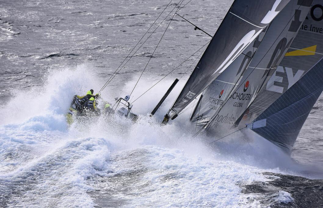 MOT FÆRDER: Slik kan Volvo Ocean Race-flåten komme inn mot Færder dersom Oslo blir pit stop-havn under Volvo Ocean Race.