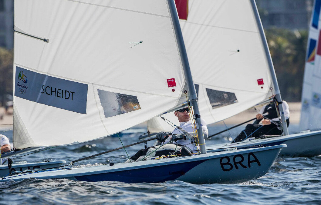 BRASILS OL-HÅP: Mandag 8. august skal Kristian Ruth måle krefter med Brasils store OL-håp i Laser, Robert Scheidt, som for øvrig også avla eden på vegne av alle de olympiske deltagerne.