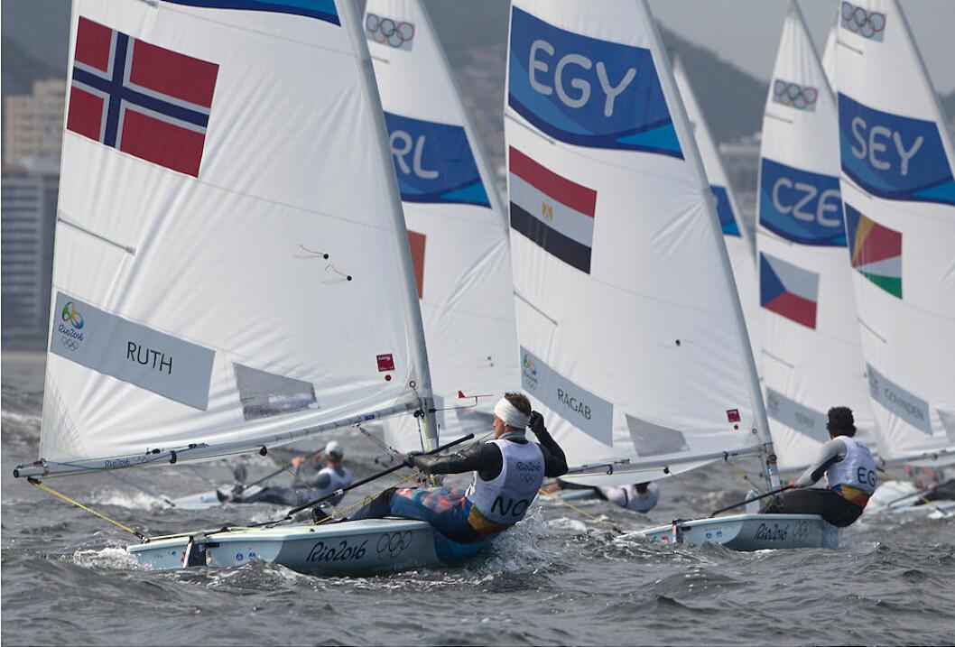 2. PLASS: Kristian Ruth avsluttet annen dag i OL i Rio med en sterk 2. plass.
