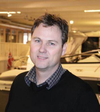 BAVARIA: Lars-Erik Solvang selger motorbåter fra Bavaria, og er i tenkeboksen om å selge seilbåter også.