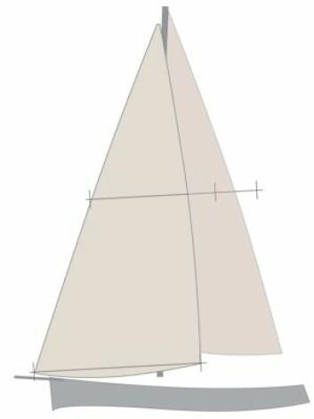 FORSEIL: Et flatt og strekkfast code-seil er derfinert som forseil om det har en trekantet form. Seilet gir kraft og akselerasjon på kryss i lett vind, men et høyere måletall.