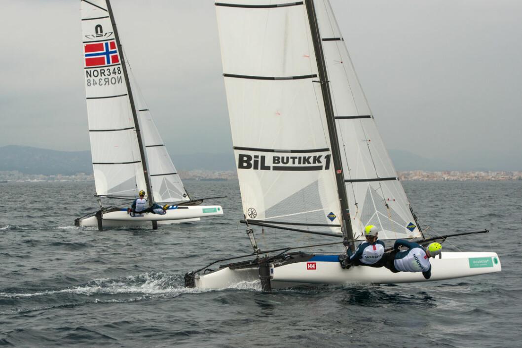 De norske lagene i Nacra17 prioritere ikke verdenscupfinale
