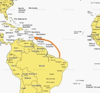 SOLO: Krogh seilte alene fra Fortaleza mot Trinida  i sin aluminiumsbåt da han ble angrepet. «Gyda»