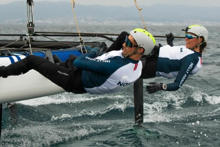 TRENING: Treningsutbytte mer enn gode resultater blir fokuset til Tiril Bue og Mathias Mollatt i Genova.