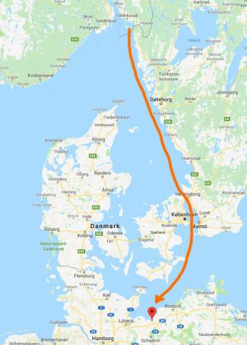 PÅSKETUR: Paul Lübbe har to uker på seg å komme til Tyskland. Været vil avgjøre rutevalget.