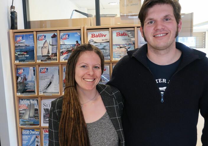 LANGTURSEILERE: Linn Charlotte Klund og Paul Lübbe har seilt siden 2012. Nå bytter de båt.