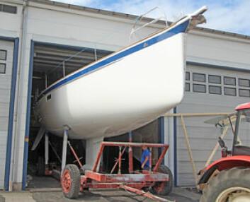NY: Du kan studere skroglinjene på nye Halleberg-Rassy 44, en båt som får et lettdrevet skrog.