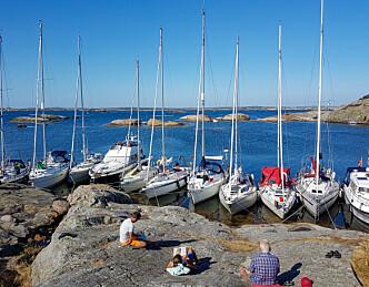 Rom sjø og plass til mange former for seiling