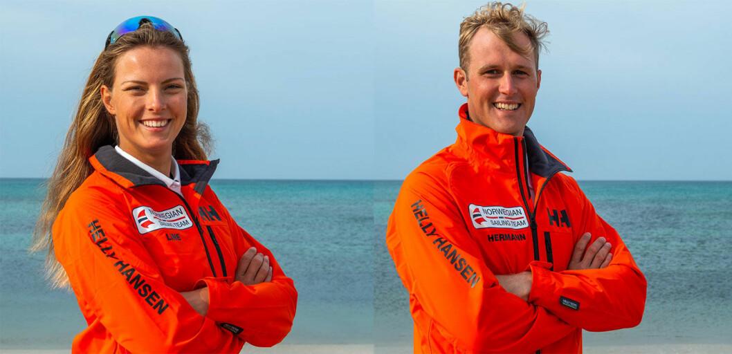 SEILER OM MEDALJER: Line Flem Høst og Hermann Tomasgaard seiler om medaljer i verdenscupen i dag.