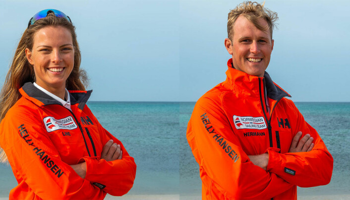 SEILER OM MEDALJER: Line Flem Høst og Hermann Tomasgaard seiler om medaljer i OL.
