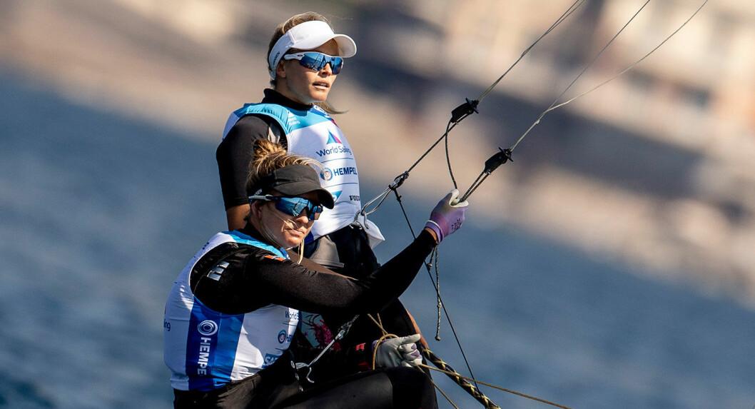 Medaljekandidater i prøve OL: Helene Næss og Marie Rønningen i 49erFX