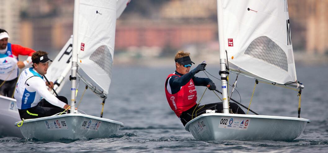 STANG UT: Hermann Tomasgaard viste nok en gang solid form og gleder seg over fremgang i lite vind. Men i kampen om en medalje ble det stang ut denne gangen.