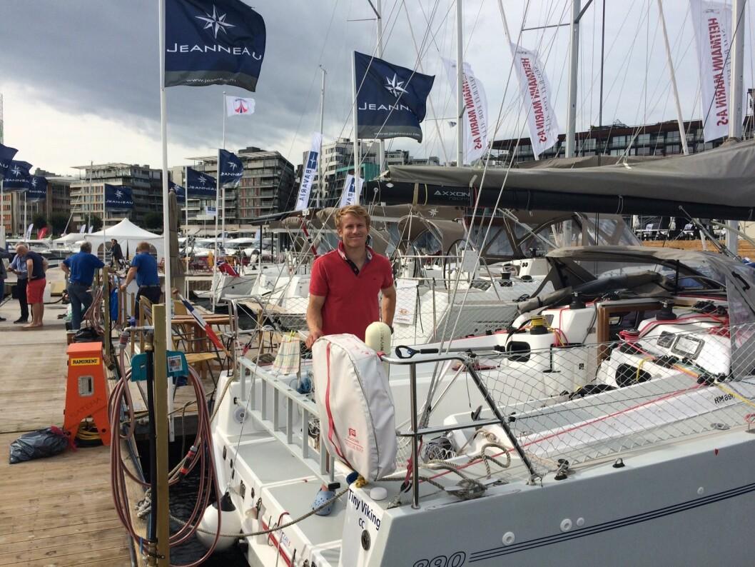 KJENDIS: Francois Gabart er på Båter i Sjøen med sin RM 890.