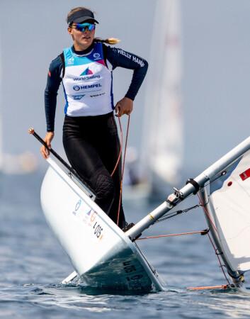 MESTRER LETT VIND: Under verdenscupen i Genova har Line Flem Høst bevist at hun også mestrer lett vind.