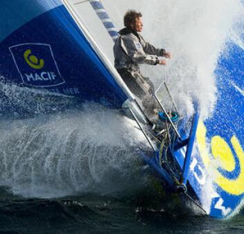 VANT: Francois Gabart ble superkjendis etter seieren i Vendee Globe. Her fra baugen på vinnerbåten «Macif».