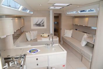 DESIGN: Solaris 42 er en trendy båt, og byr på italiensk design.