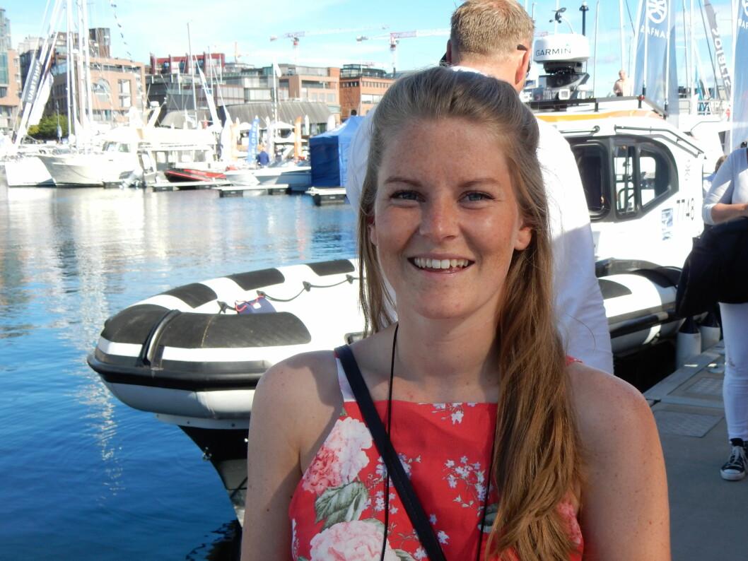 UTSTILLING: Oda besøkte båtmessen på Aker Brygge mens motoren blir reparert i Nederland.