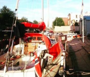 REPP: Båten ligger i Amsterdam hvor det nå jobbes for å fikse motoren.
