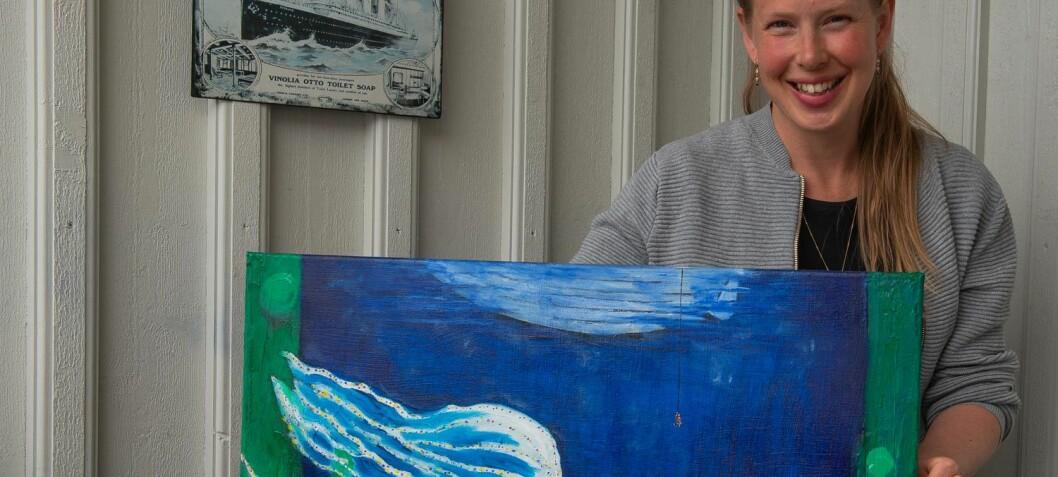 Kunst om klimaendringer og plast i havet