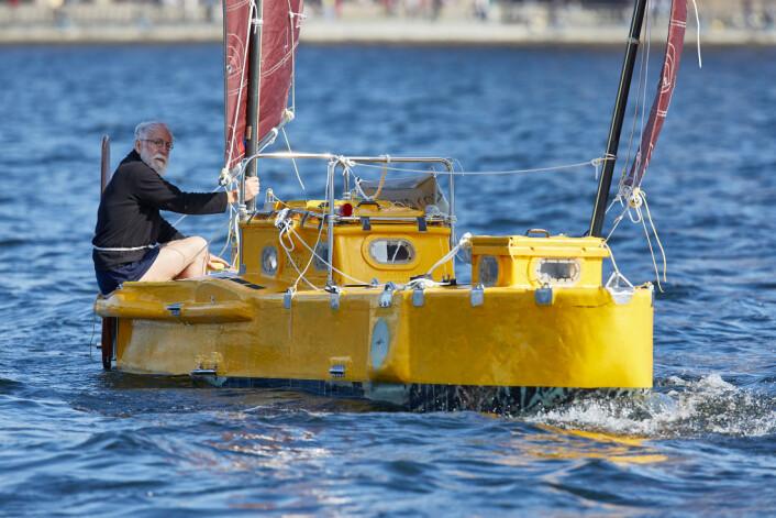 MISSSLYKKET: Yrvind forsøkte seg i 2018, men fikk tekniske problemer med styringen. Båten var også for tung.