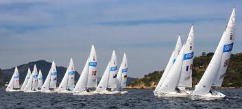 I TETEN: Det norske Sonar-laget var blant de fremste i alle gårsdagens tre seilaser.