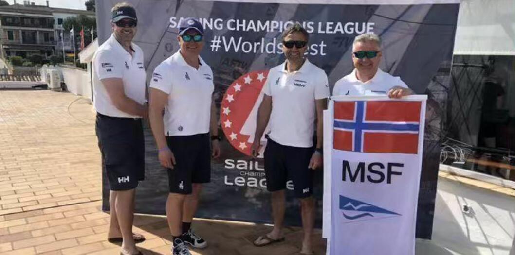 PÅ MALLORCA: Seilere fra Moss Seilforening er på Mallorca for å kvalifsiere seg til finalen i Sailing Champions League.