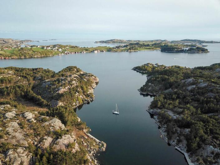SØRVESTLANDET: Simetra for anker i Kvernavågen ved Egersund.