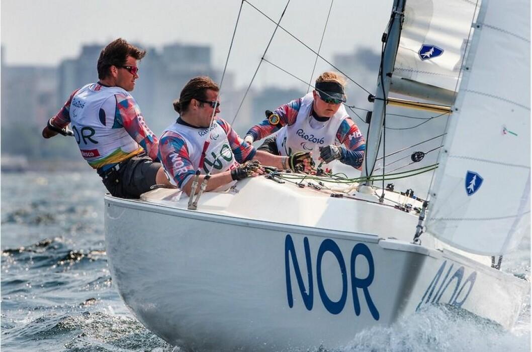 MEDALJE: Det norske Sonar-laget kan ta medalje om alt klaffer i dag.