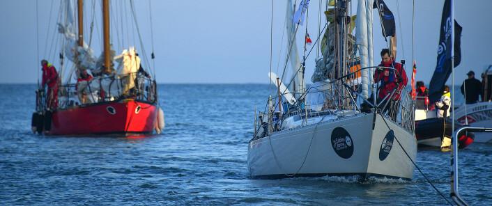 HELT:  Tapio Lehtinen seilte en Gaia 36, «Asteria», forløperen til Swan 36, men med lang kjøl.