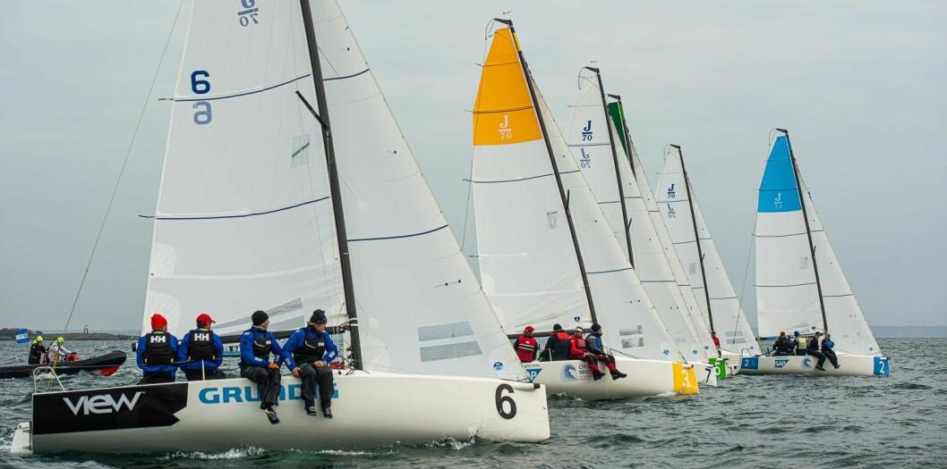 BEDRIFTSCUP: Deltagerne i E24 Clean Seas Challenge skal få litt å henge fingrene i når de skal forsøke seg i J/70-er.