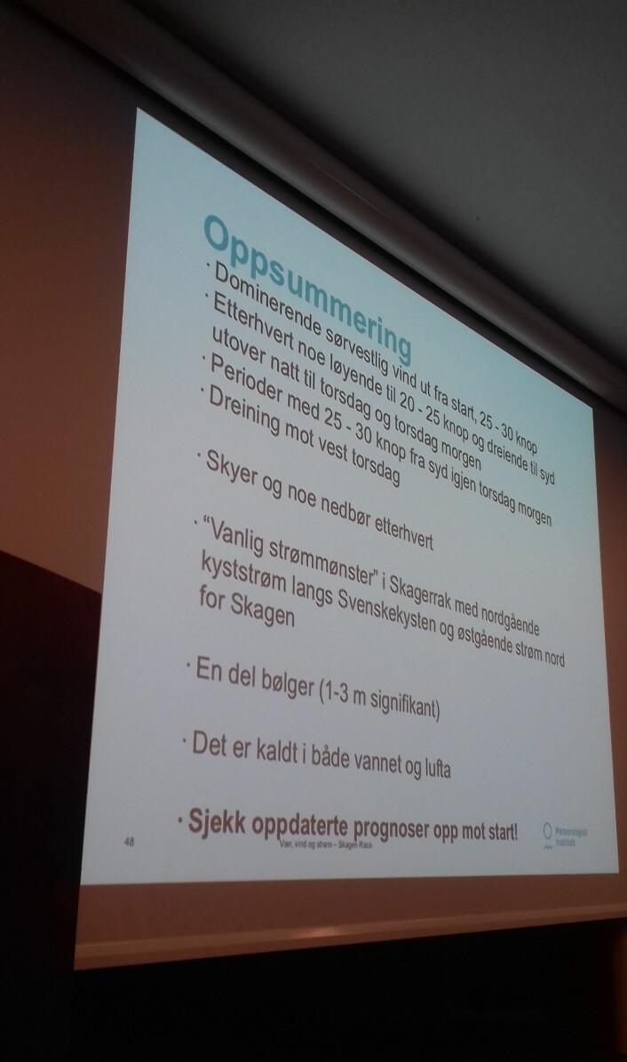 Nils Melsom Kristensens oppsummering