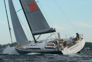 TET: Kl 23.00 lå «Gode Venner» som første båt, men var ikke raskest.