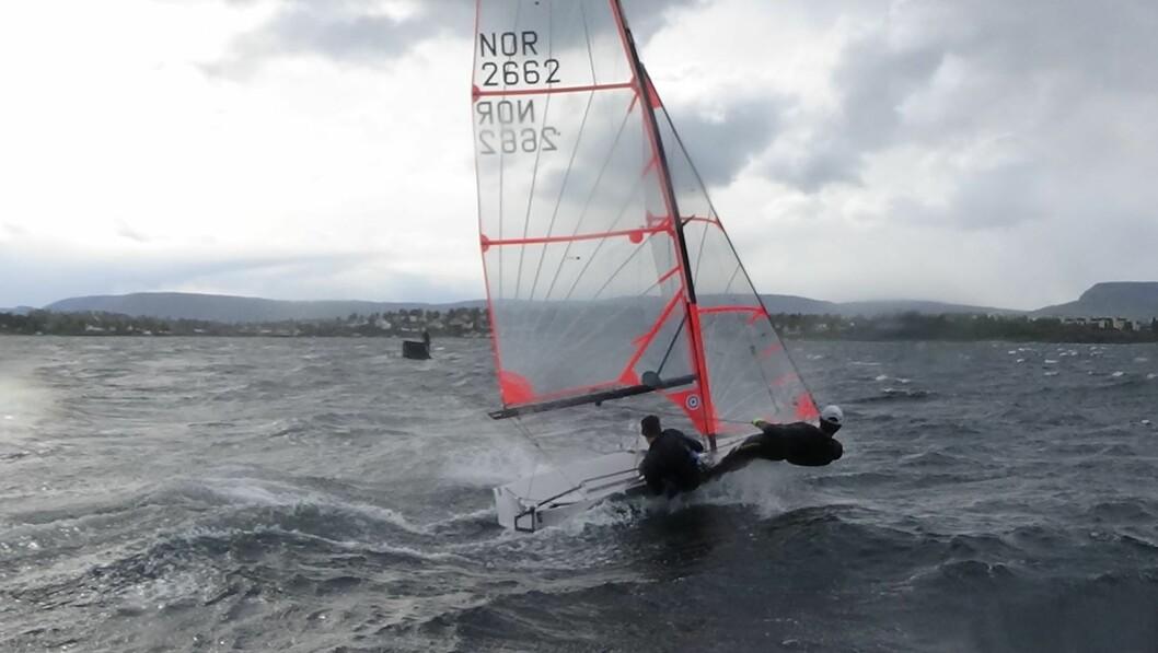 Berthet og Penty under trening i Oslofjorden