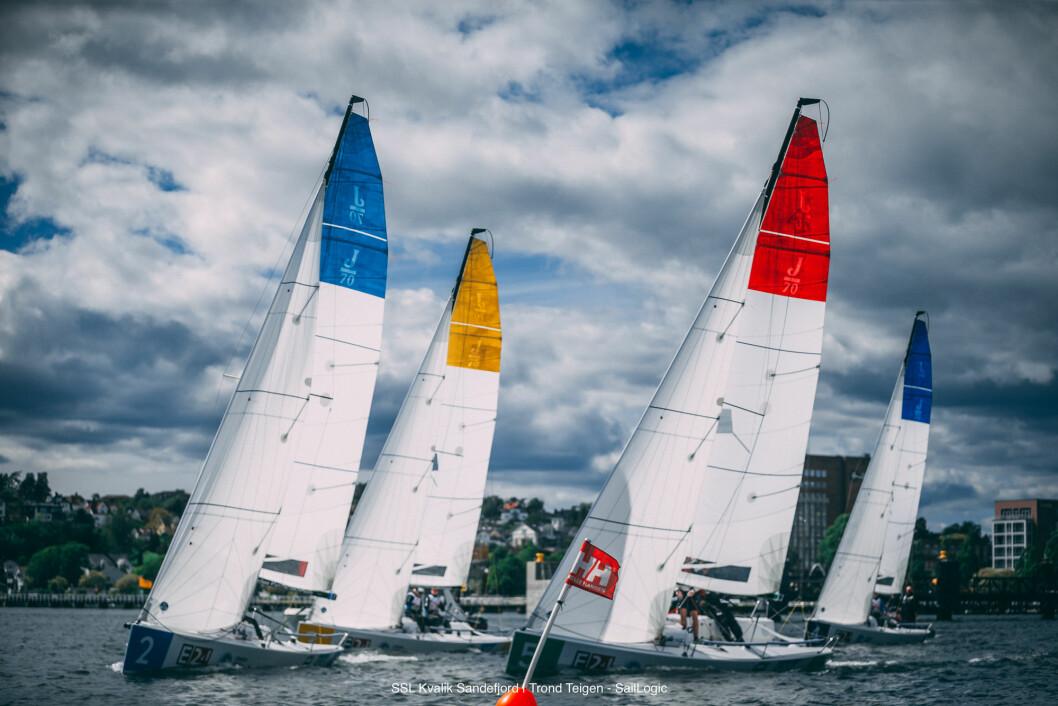FIGHT: Det blir hard fight om å unngå de fem bakerste plassene i første runde av seilsportsligaen i Oslo.