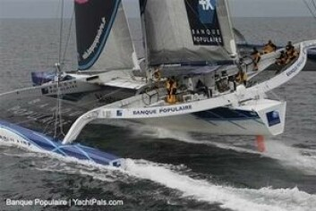 REKORD: Banque Populaire V holder rekorden jorda rundt.