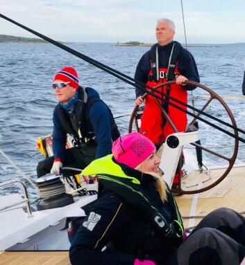SKIPPER: Amerikaneren var imponert over skipper Kenneth Bjørklund på «EnderPearl».