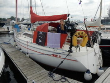 JEANNEAU: Oda Pedersen Taule seiler en Rush 97 fra 80-tallet.