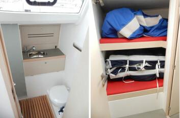 BAD: Båten har kun ett bad og dette er ikke imponerende stort. Et ekstra bad kunne fått plass forut i stede for ekstra køyeplass.