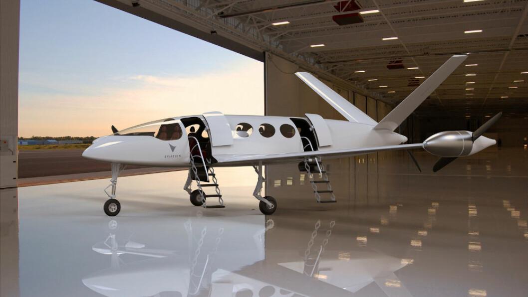 NYTT: «Alice» fra Eviation Aircraft ble lansert 18. juni. Flyet ble bygget av MultiPlast i Frankrike.
