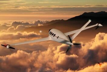 PROPELL: Flyet tar ni passasjerer og kan fly fra Oslo til London.