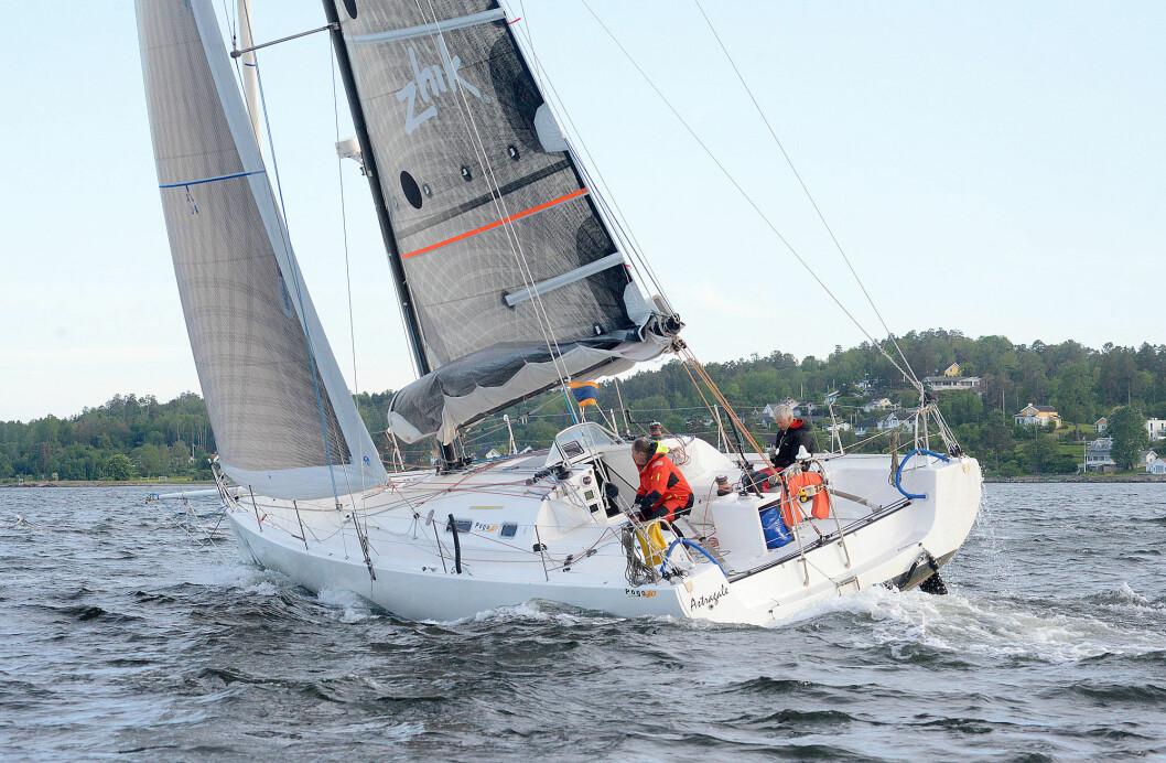 SKAGEN: «Astragale» var en av få båter som fullførte Skagen Race. Båten takler mye vind.