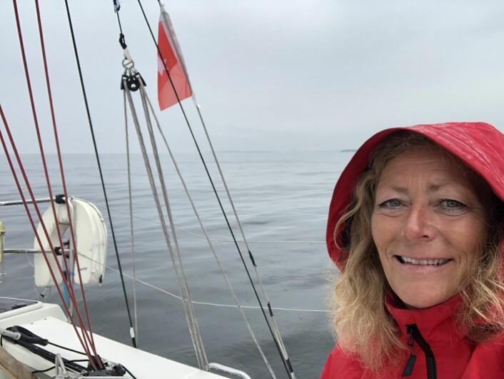 FRUSTRERT: Eira Naustvik i «Cruela» ønsker seg lettvindseil.