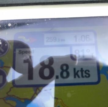 FART: «Astragale» er oppe i høye hastigheter på vei mot mål.