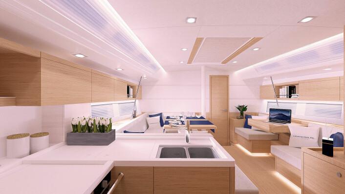 INNREDNING: Den nye Grand Soleil ser ut til å bli en komfortabel båt.
