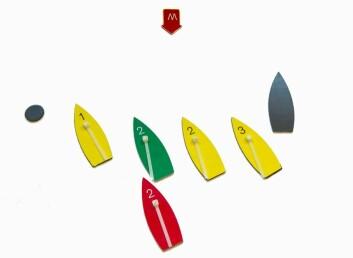 ANLEDNING TIL Å VIKE: Rød båt har etablert overlapp på grønn båt i starten og vil at rød båt skal loffe opp. Grønn båt trenger dog ikke foreta seg noe før overlappen er etablert, og da må rød båt gi grønn båt plass og anledning til å vike. Går rød ...
