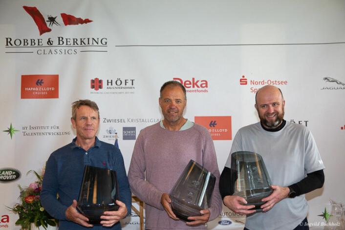 Kristian Nergaard, Johan Barne og Trond Solli-Sæther med fersk seier i det åpne tyske mesterskapet.