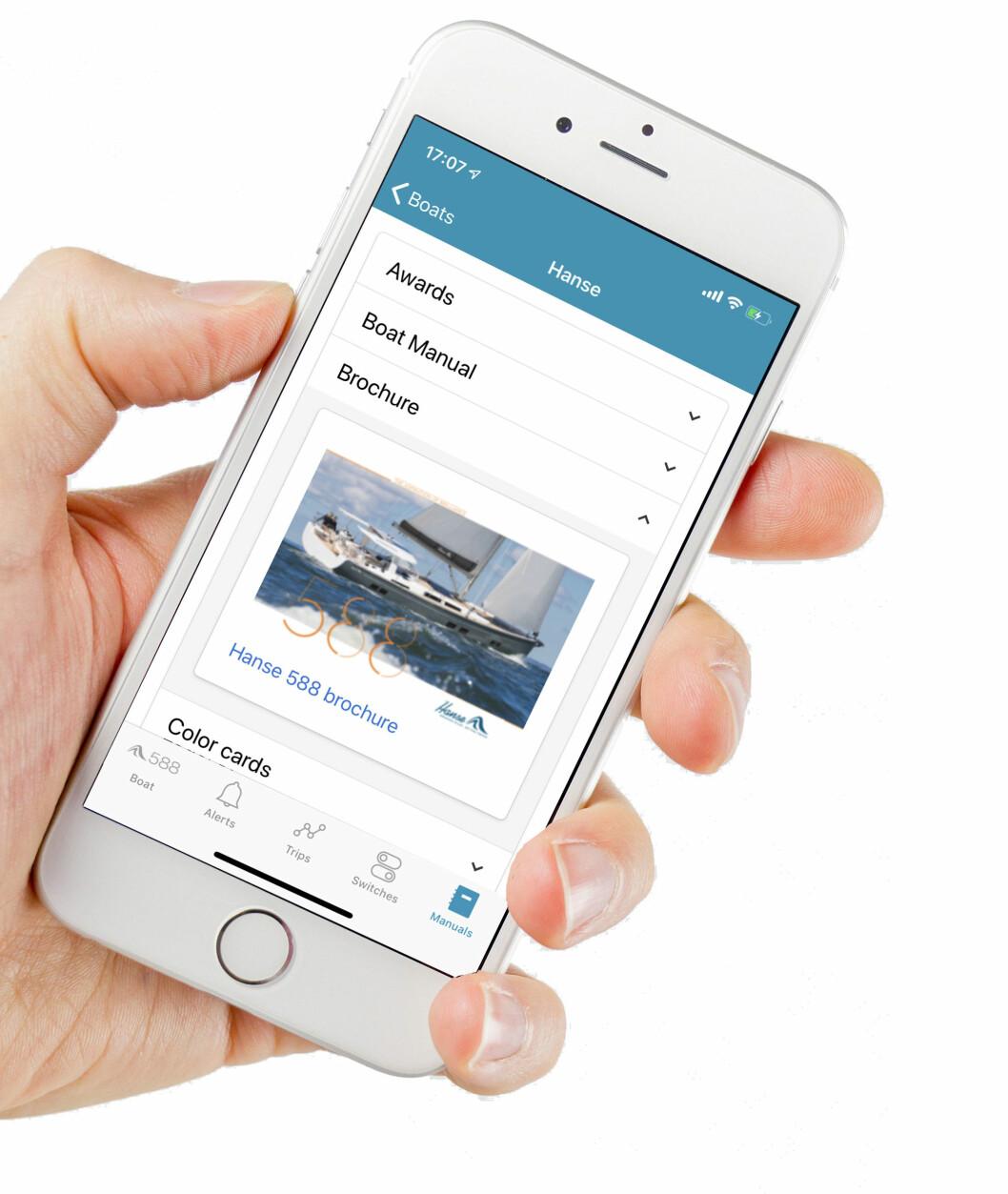 MOBIL: Med den nye tjenesten fra Hanse har du digital tilgang til det meste på bten din.