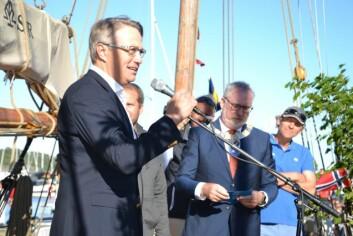 KNS´ formann Karl-Christian Agerup og ordfører Per Kr. Lunden.